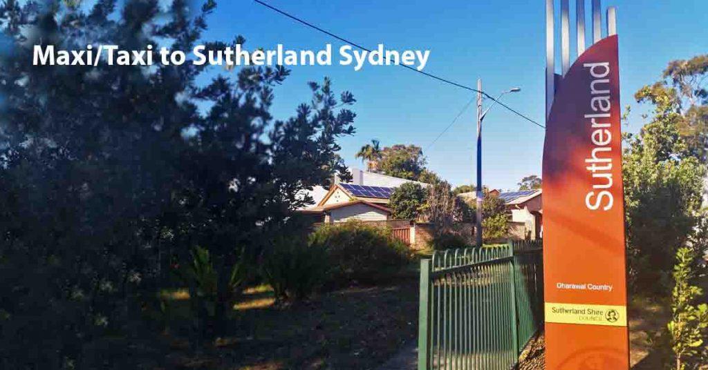 Maxi Taxi near Sutherland, Sydney