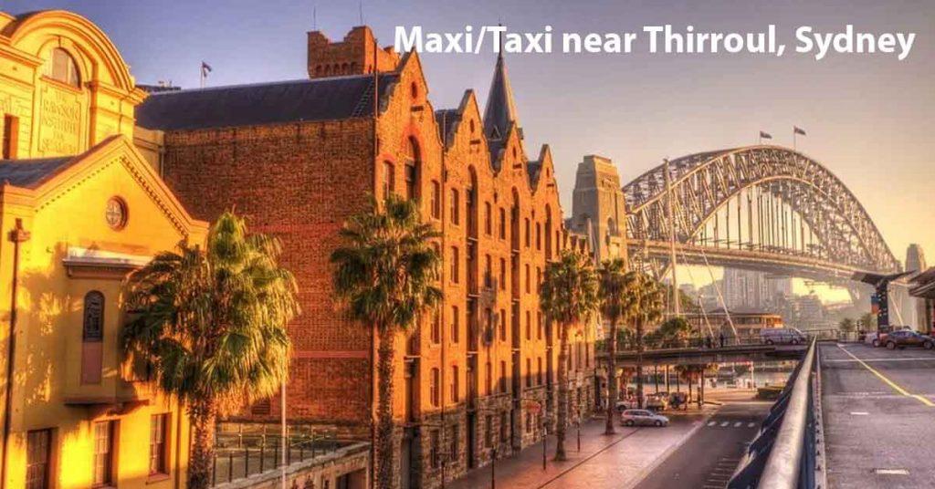 Maxi Taxi near The Rocks Sydney