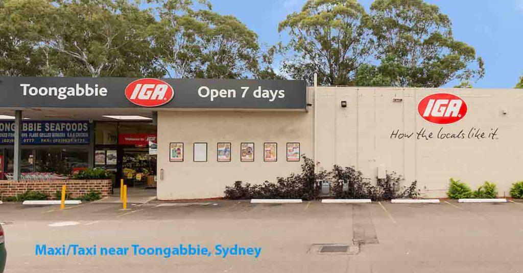 Maxi Taxi near Toongabbie Sydney